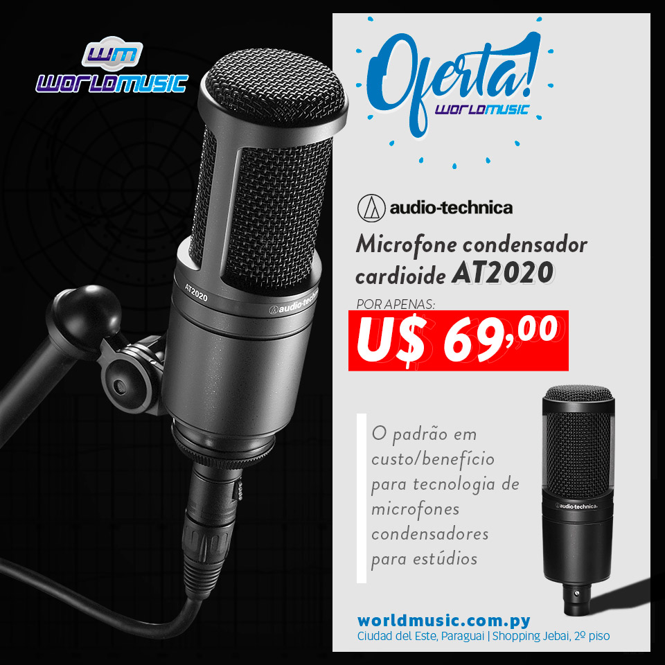 at2020 microfone audio-technica oferta promocao